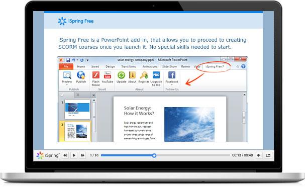 Click to view iSpring Free 7 screenshot